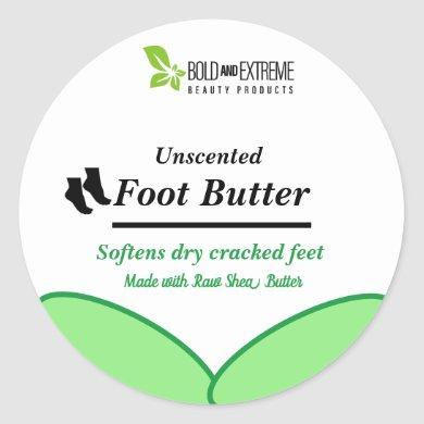 100% Natural Foot Butter Classic Round Sticker