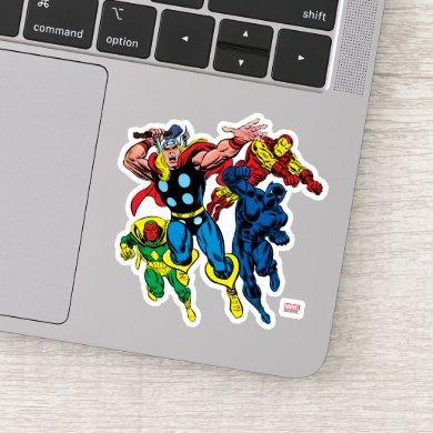 60's Marvel Avengers Graphic Sticker