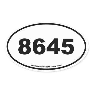 8645 OVAL STICKER