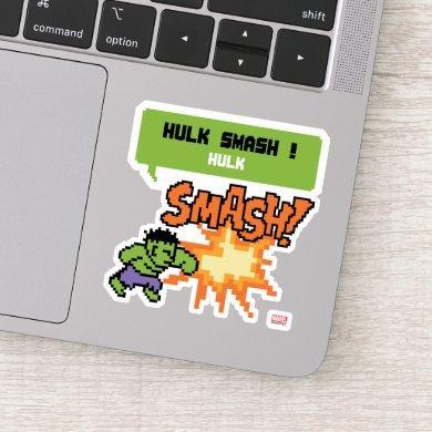8Bit Hulk Attack - Hulk Smash! Sticker
