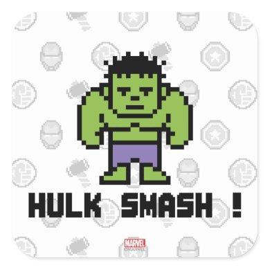 8Bit Hulk - Hulk Smash! Square Sticker