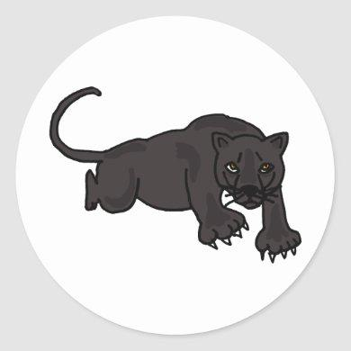 AB- Leaping Panther Stickers