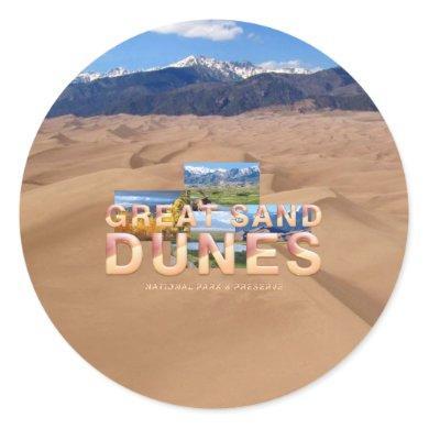 ABH Great Sand Dunes Classic Round Sticker