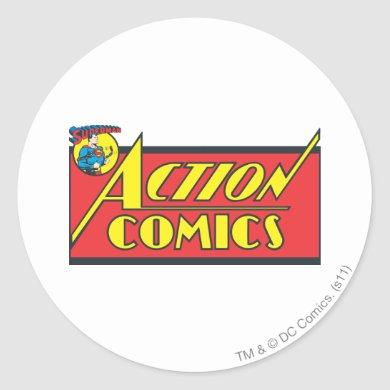 Action Comics - Superman Classic Round Sticker