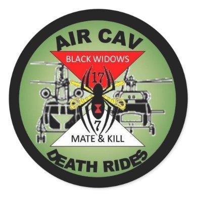 AIR CAV CLASSIC ROUND STICKER