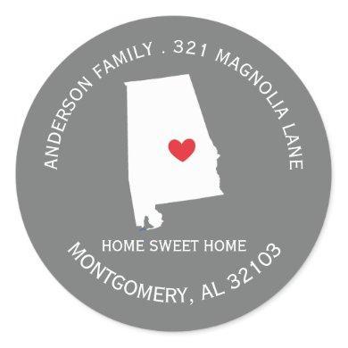 ALABAMA State   New Home Address Label Sticker
