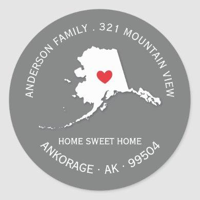 ALASKA State | New Home Address Label Sticker