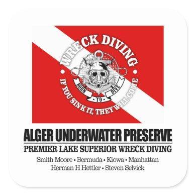 Alger Underwater Preserve Square Sticker
