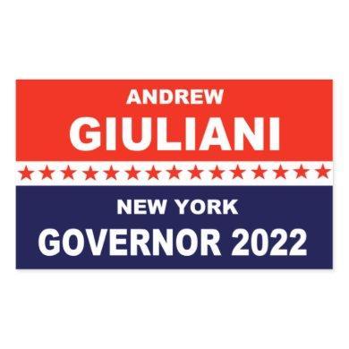 Andrew Giuliani New York Governor 2022 Rectangular Sticker