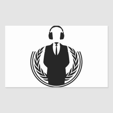 Anonymous DJ Rectangular Sticker