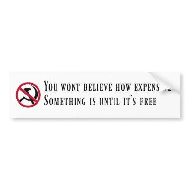 Anti-Socialist Bumper Sticker