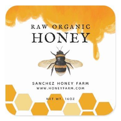 Apiary Honey Farm Jar Labels