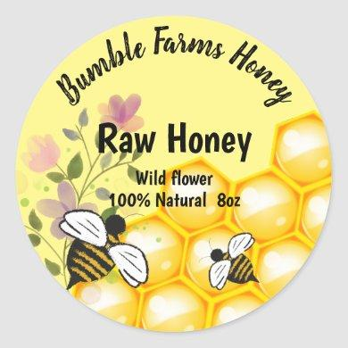 Apiary RAW HONEY Custom label