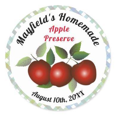 Apple Fruit Canning | Jam Jar Label