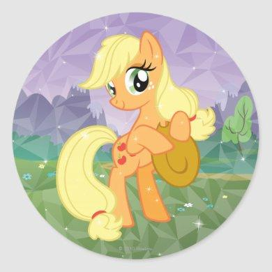 Applejack Classic Round Sticker