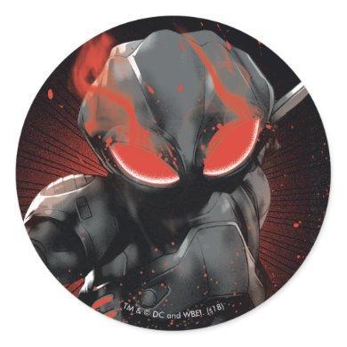 Aquaman | Black Manta Red Swipe Graphic Classic Round Sticker