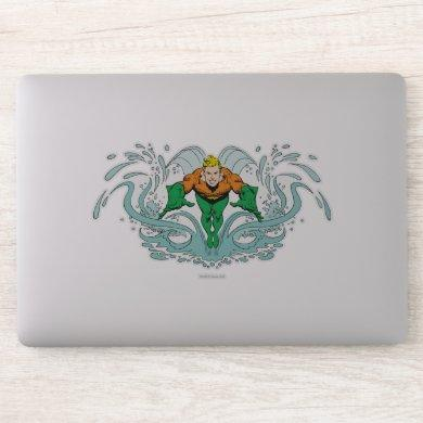 Aquaman Lunging Forward Sticker
