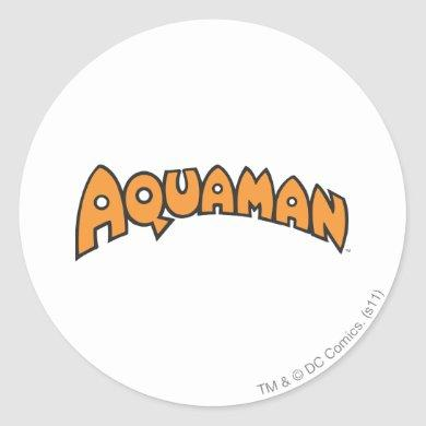Aquaman Orange Logo Classic Round Sticker
