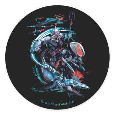Aquaman | Orm, Black Manta, Tylosaur, & Ships Classic Round Sticker