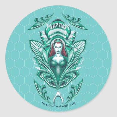 Aquaman | Ornate Mera Graphic Classic Round Sticker