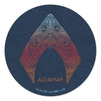Aquaman | Paisley Aquaman Logo Classic Round Sticker