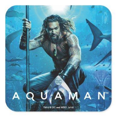 Aquaman | Prince Orin With Aquatic Animals Square Sticker