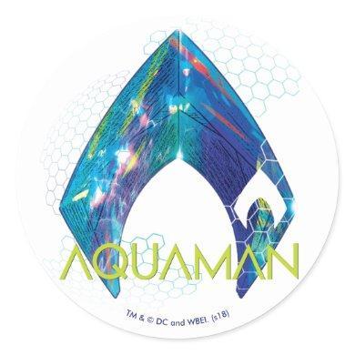Aquaman | Refracted Aquaman Logo Classic Round Sticker