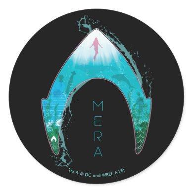 Aquaman | See Through Mera Symbol Ocean Graphic Classic Round Sticker