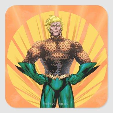 Aquaman Standing Square Sticker
