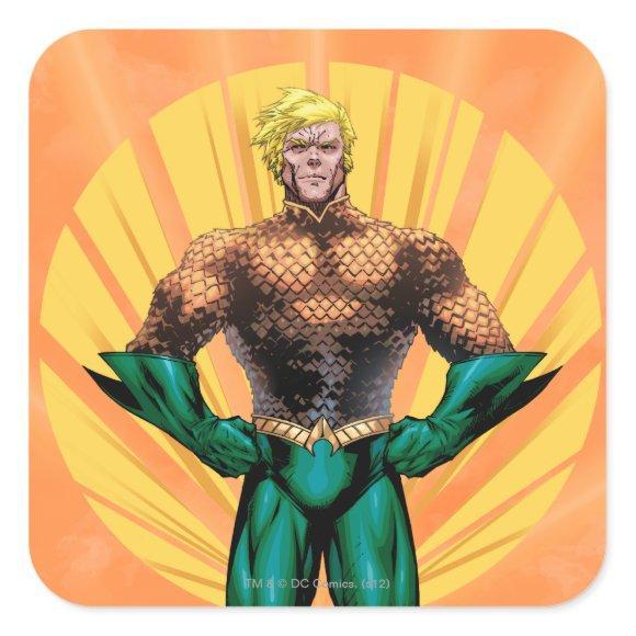 Aquaman Standing Square Sticker