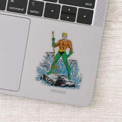 Aquaman Stands with Pitchfork Sticker