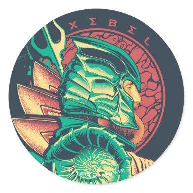 Aquaman   Xebel King Nereus Graphic Classic Round Sticker