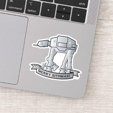 "AT-AT Walker ""Merry Sithmas!"" Sticker"