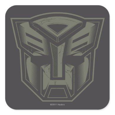 Autobot Cracked Symbol Square Sticker