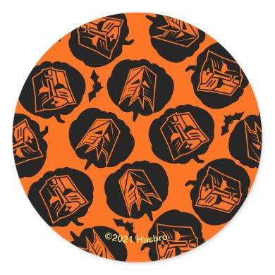 Autobot & Decepticon Halloween Icon Pattern Classic Round Sticker