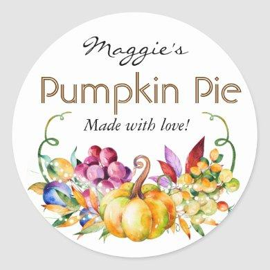 Autumn Fall Baking Pie or Jar Labels