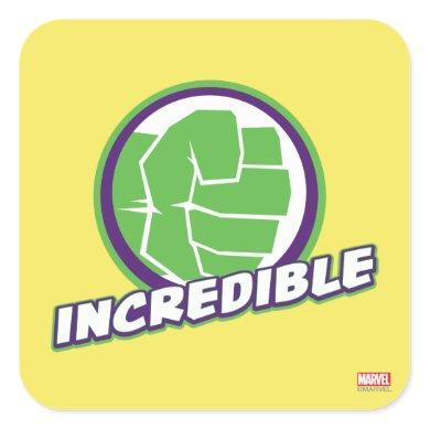 Avengers Assemble Incredible Hulk Logo Square Sticker