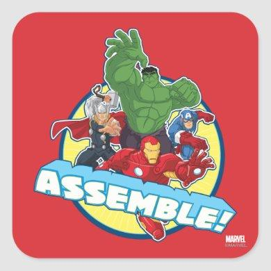 Avengers Assemble! Square Sticker