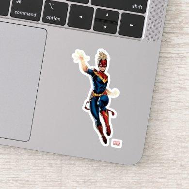 Avengers | Captain Marel Flying Through Space Sticker