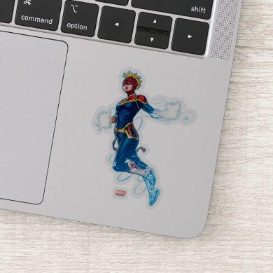 Avengers | Captain Marvel Blue Cosmic Vibes Sticker
