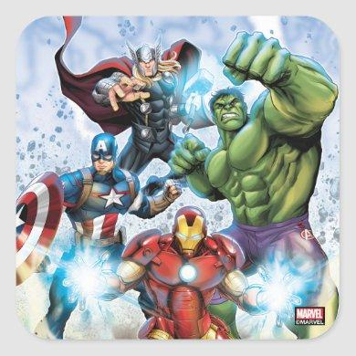 Avengers Classics | Avengers Prepared To Attack Square Sticker