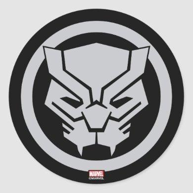 Avengers Classics | Black Panther Icon Classic Round Sticker