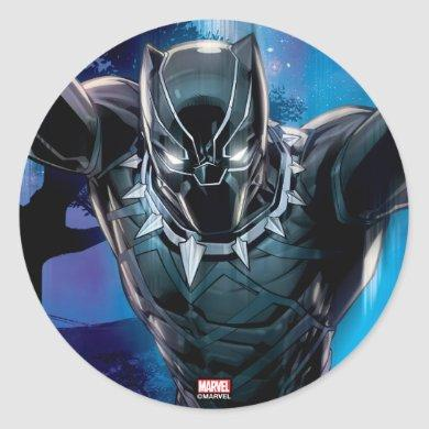 Avengers Classics | Black Panther In Tall Grass Classic Round Sticker