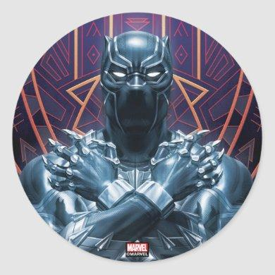 Avengers Classics | Black Panther Salute Classic Round Sticker