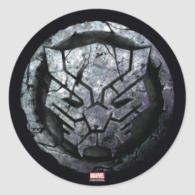 Avengers Classics | Black Panther Stone Emblem Classic Round Sticker