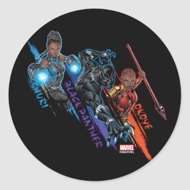Avengers Classics | Black Panther Team Up Classic Round Sticker