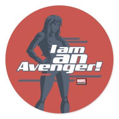 "Avengers Classics | Black Widow ""I Am"" Graphic Classic Round Sticker"
