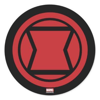 Avengers Classics | Black Widow Icon Classic Round Sticker