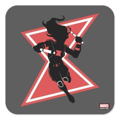 Avengers Classics | Black Widow Icon Graphic Square Sticker