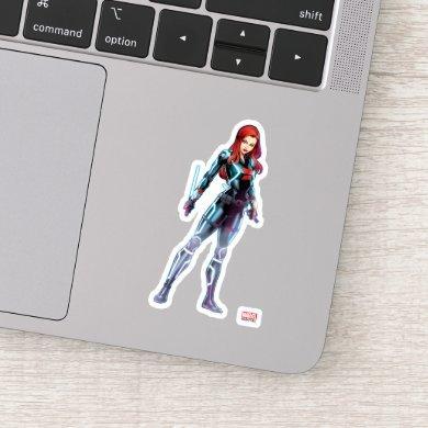Avengers Classics | Black Widow Neon Glow 2 Sticker